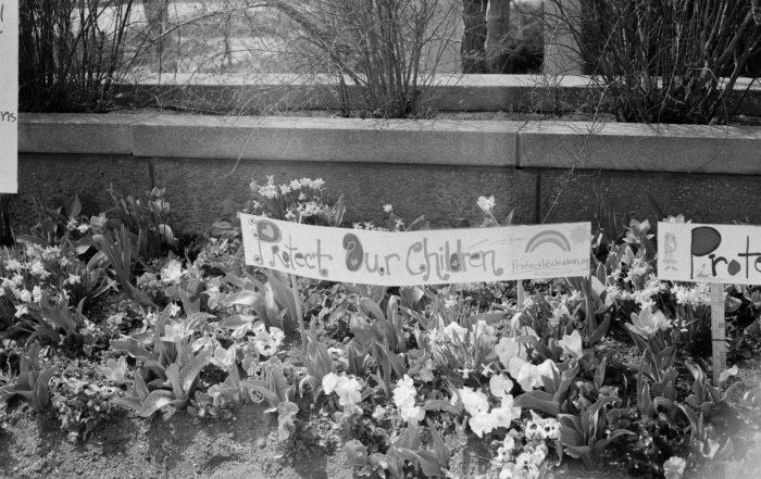 Protect Our Children Flower bed